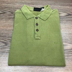Patagonia Solid Green Polo Shirt L